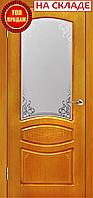 Межкомнатная дверь  ТМ Галерея дверей  Венеция Орех Витраж, полотно остекленное
