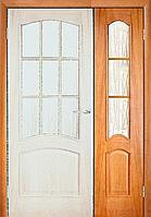 Межкомнатная дверь  ТМ Галерея дверей Капри Дуб, полотно остекленное 40