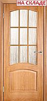 Межкомнатная дверь  ТМ Галерея дверей  Капри Дуб , полотно остекленное