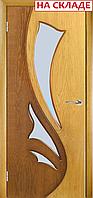 Межкомнатная дверь  ТМ Галерея дверей Лючия Дуб-Орех, полотно остекленное