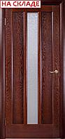 Межкомнатные двери производства Белоруссии, модель Трояна тон, полотно остекленное 1 стекл  Исток 9