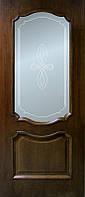 Межкомнатные двери Кармен орех, полотно остекленное