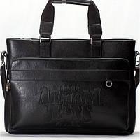 Мужская сумка портфель Giorgio Armani  черного цвета