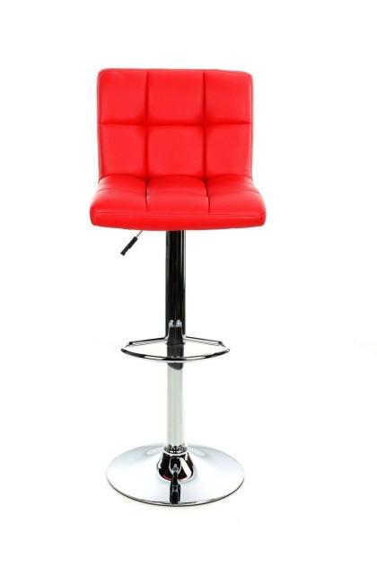 Барний стілець Hoker MONZO з регулюванням висоти і поворотом сидіння Еко шкіра Червоний
