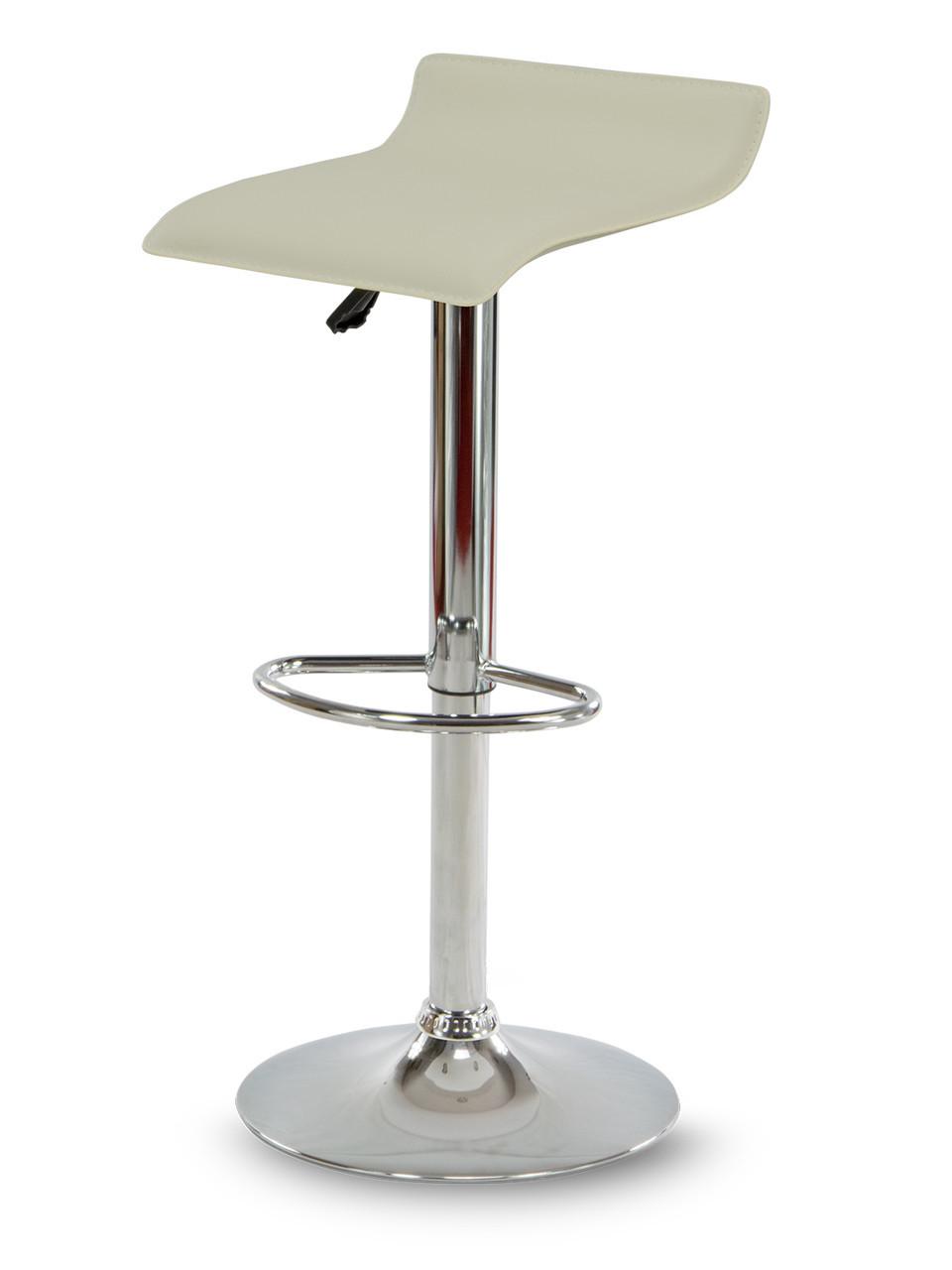 Барний стілець Hoker VIA з регулюванням висоти і підніжкою Бежевий
