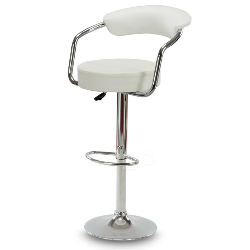 Барный стул Hoker VIGO с регулированием высоты и подставкой для ног Белый