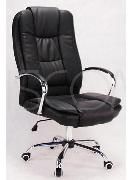 Кресло офисное компьютерное Calviano MAX MIDO на колесиках Эко кожа Черное
