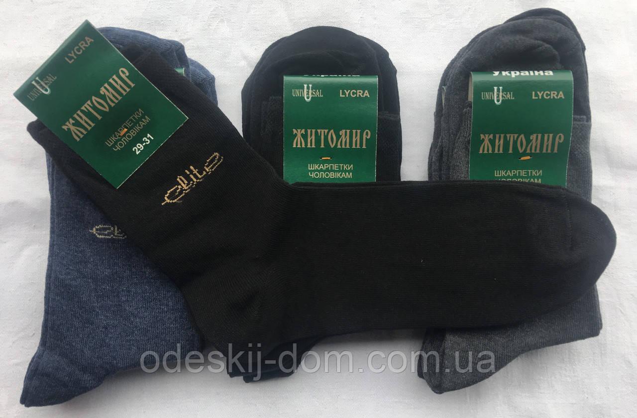 Житомирські чоловічі шкарпетки стрейч тм Універсал р29-31 мікс