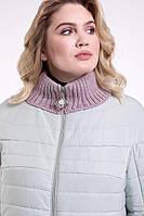 Элегантная куртка  своротником-довязом Большие размеры от 48 до 60
