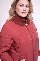 Элегантная куртка  своротником-довязом Большие размеры 50,60
