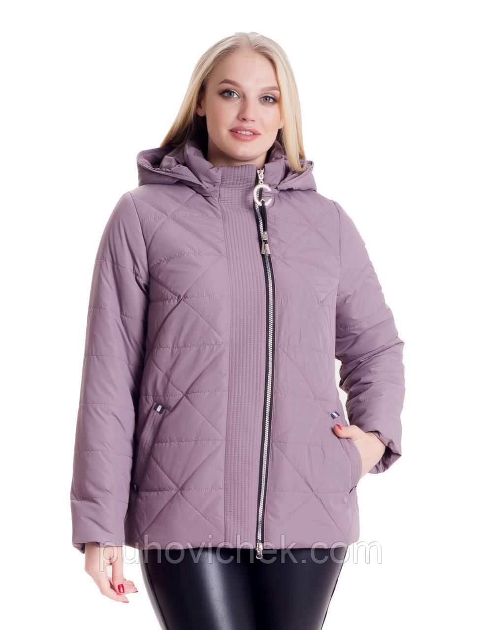 Стильная куртка женская осень размеры 46,48