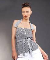 Туника-блуза женская в полоску с оригинальным дизайном. Летняя туника, размеры 46-50. РАСПРОДАЖА!!!