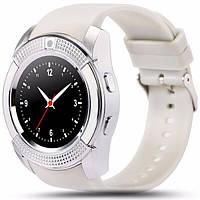 Подарок + Умные часы SMART WATCH V8 телефон сенсорные, белые