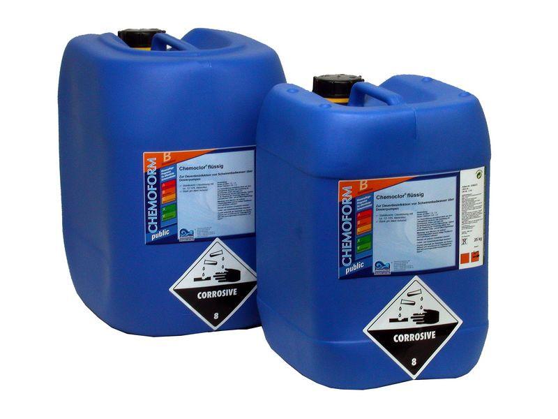 Средство для дезинфекции воды бассейна хлор жидкий 13% Fresh Pool, 35 кг, фото 1