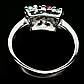 Изумруд, рубин и сапфир, серебро 925, кольцо, 1473КЦС, фото 3