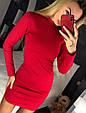 Трикотажное платье мини с закругленным низом, фото 6