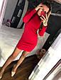 Трикотажное платье мини с закругленным низом, фото 7