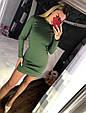 Трикотажное платье мини с закругленным низом, фото 2