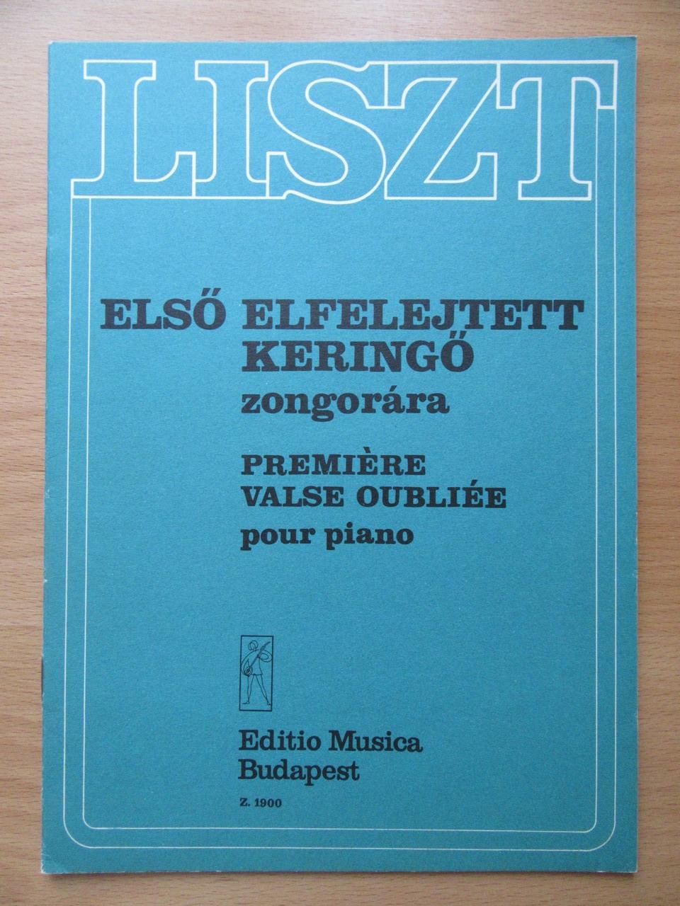 Liszt Ferenc. Premiere Valse Oubliée