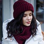 Женские комплекты: шапка и шарф