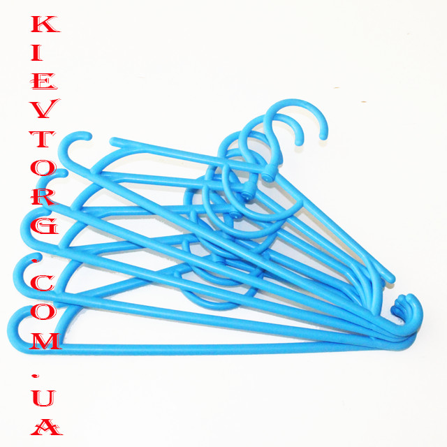 Вешалки плечики пластиковые детские, цвет голубой, длина 31 см