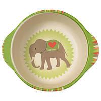 Тарелка из бамбукового волокна Слон на воздушном шаре Eco