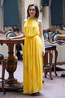 Шифоновое платье гофре в пол, р. 42-44, S