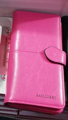 Женский кошелек BAELLERRY Lady Wallet Long портмоне с ремешком розовый (SUN1474)