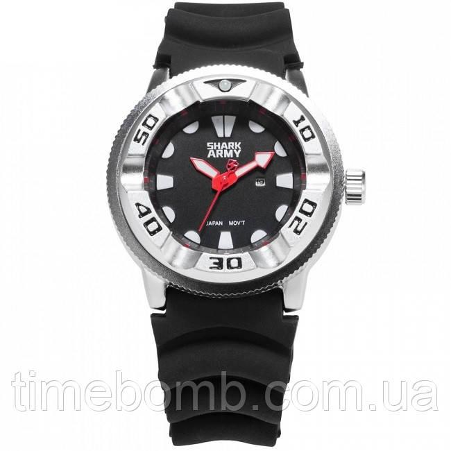 Мужские армейские часы Shark Army Marine M48 красные