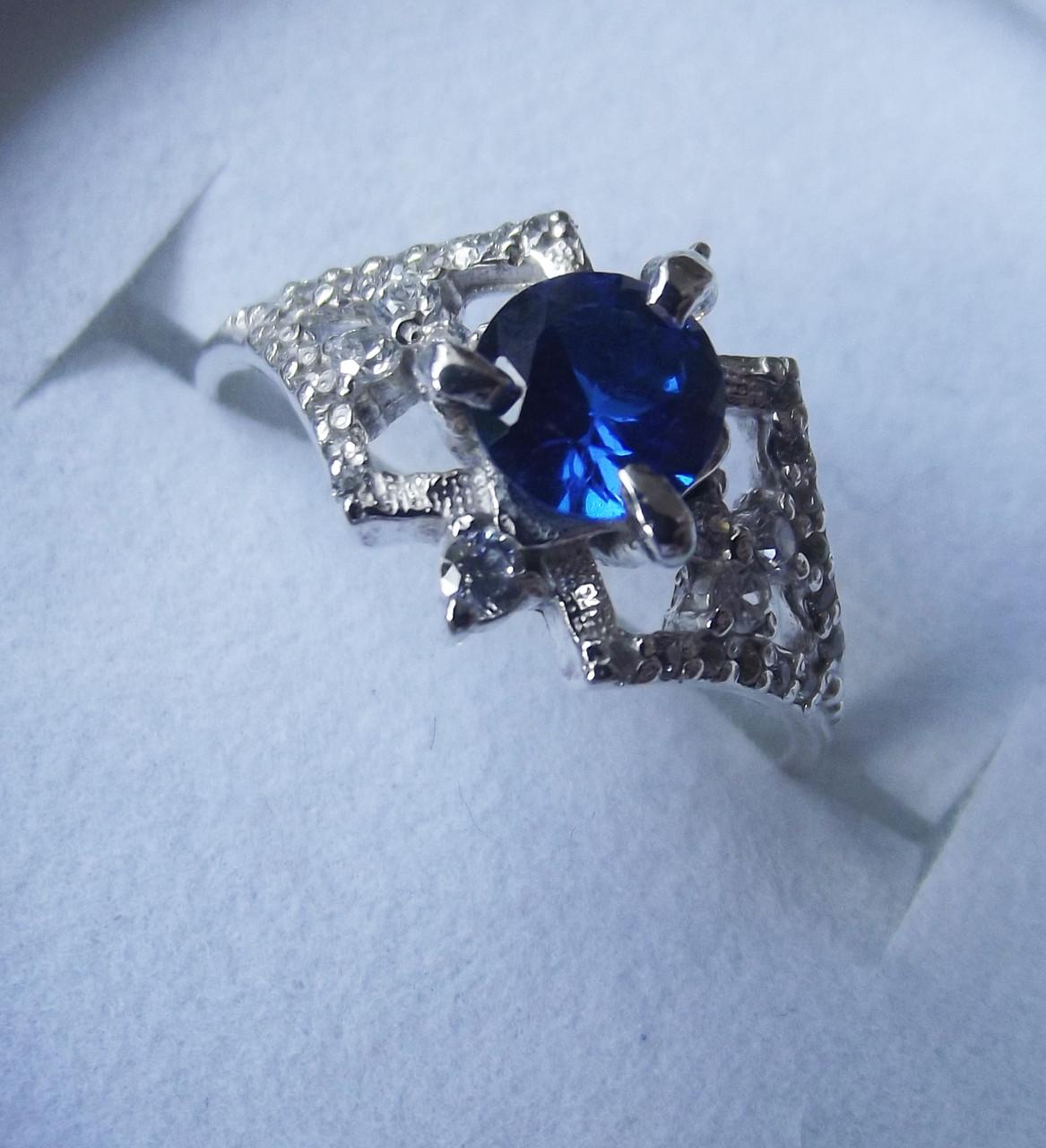 Кольцо  женское серебряное Модерн