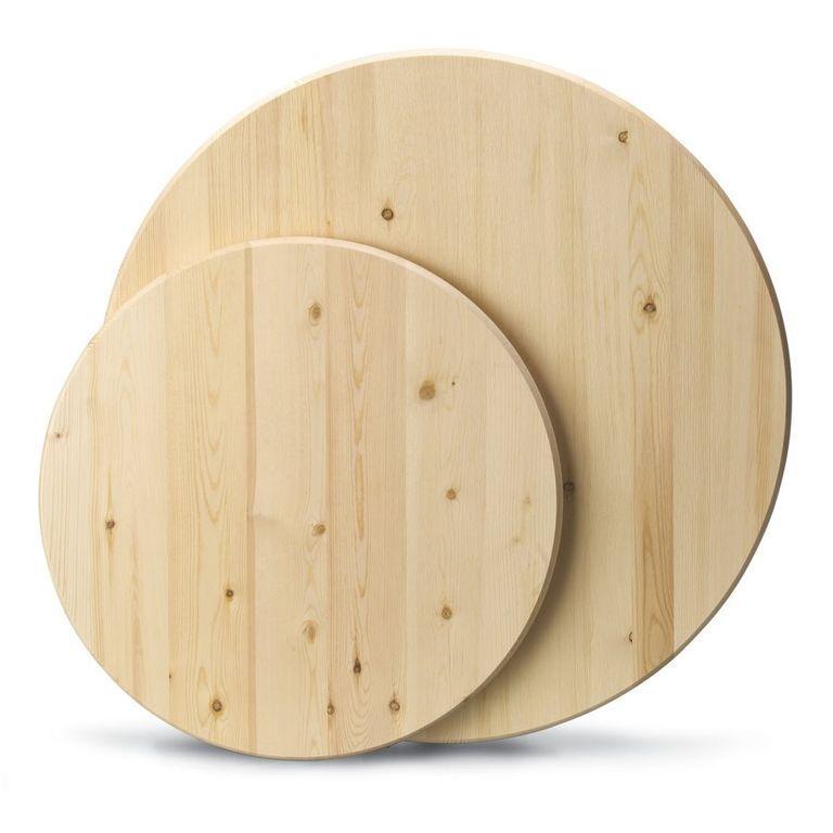 Стільниця на кухні з масиву дуба кругла