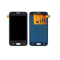 Дисплей для SAMSUNG J120 Galaxy J1 (2016) с чёрным тачскрином, с регулируемой подсветкой БЕЗ ЛОГОТИПА