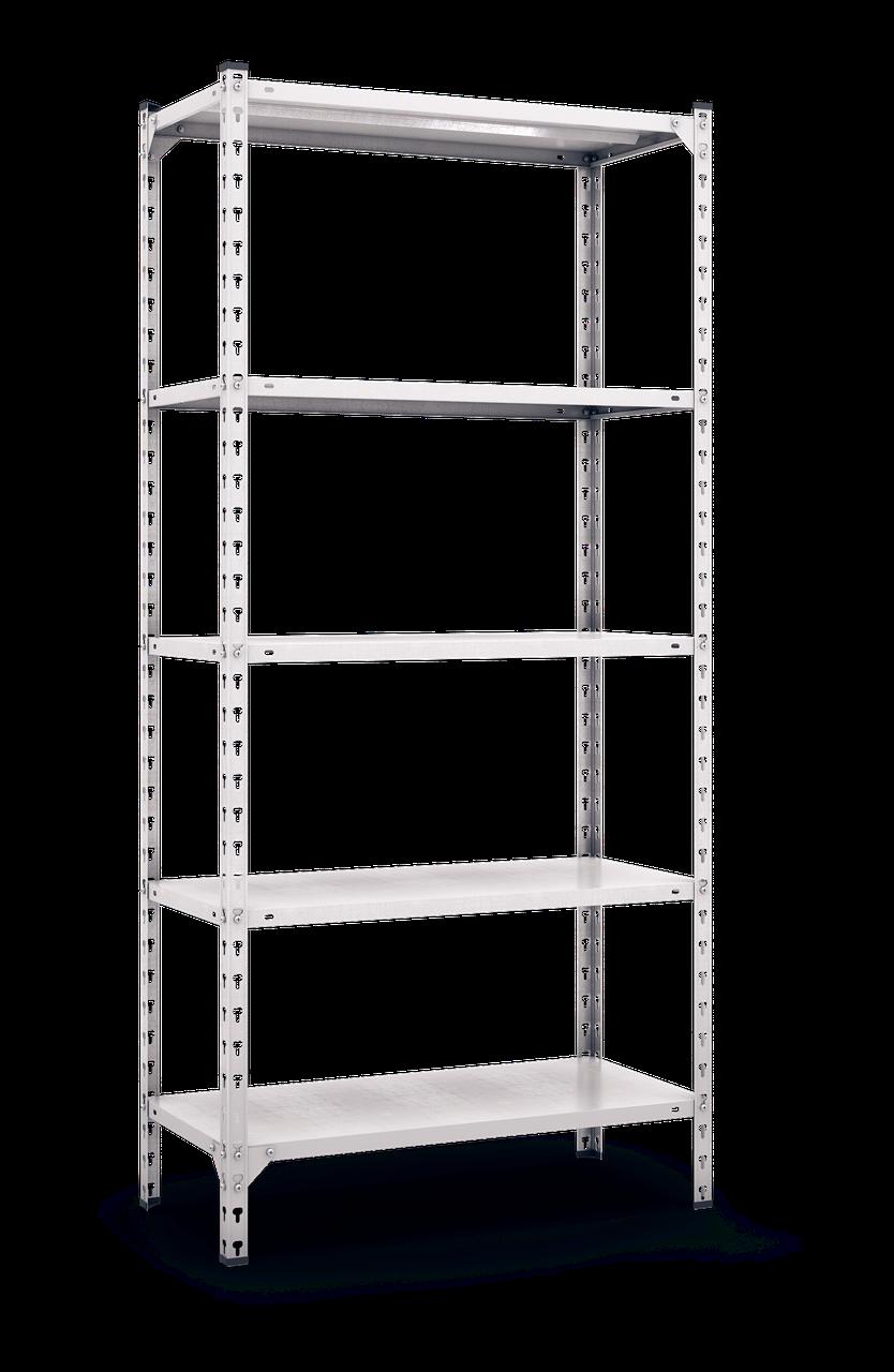 Стеллаж полочный Комби (2160х1000х400), на болтовом соединении, 5 полок (металл), 180 кг/полка