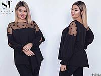Блуза женская нарядная большие размеры Г03939, фото 1