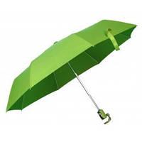 Зеленый зонт складной автоматический, 9 цветов, с нанесением логотипов, для рекламы, фото 1