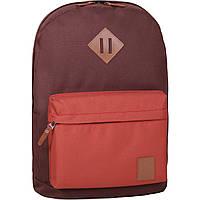 Рюкзак Bagland Молодежный W/R 17 л. коричневий/кирпич (00533662)