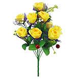 Искусственные цветы букет роз с вишней, фото 2