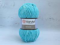 Пряжа для вязания YarnArt Dolce цвет 746 св. бирюза плюшевая пряжа для вязания пледов и игрушек, детская пряжа