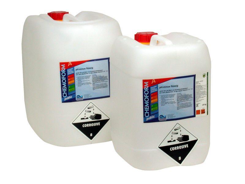 Средство для понижения уровня РН воды бассейна. РН - минус жидкий Freshpool, 35 кг, 38%