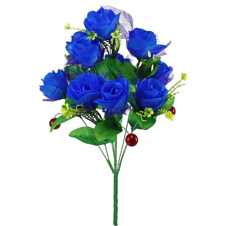 Искусственные цветы букет роз с вишней
