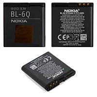 Батарея (АКБ, акумулятор) BL-6Q для телефонів Nokia 6700c, 970 mAh, оригінал