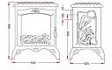 Печь-камин CHAMBORD эмаль слоновая кость Invicta, фото 3