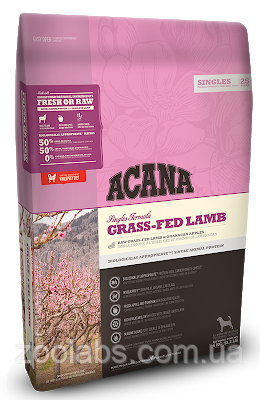 Корм Acana для собак и щенков с ягненком   Acana Grass Fed Lamb 11,4 кг