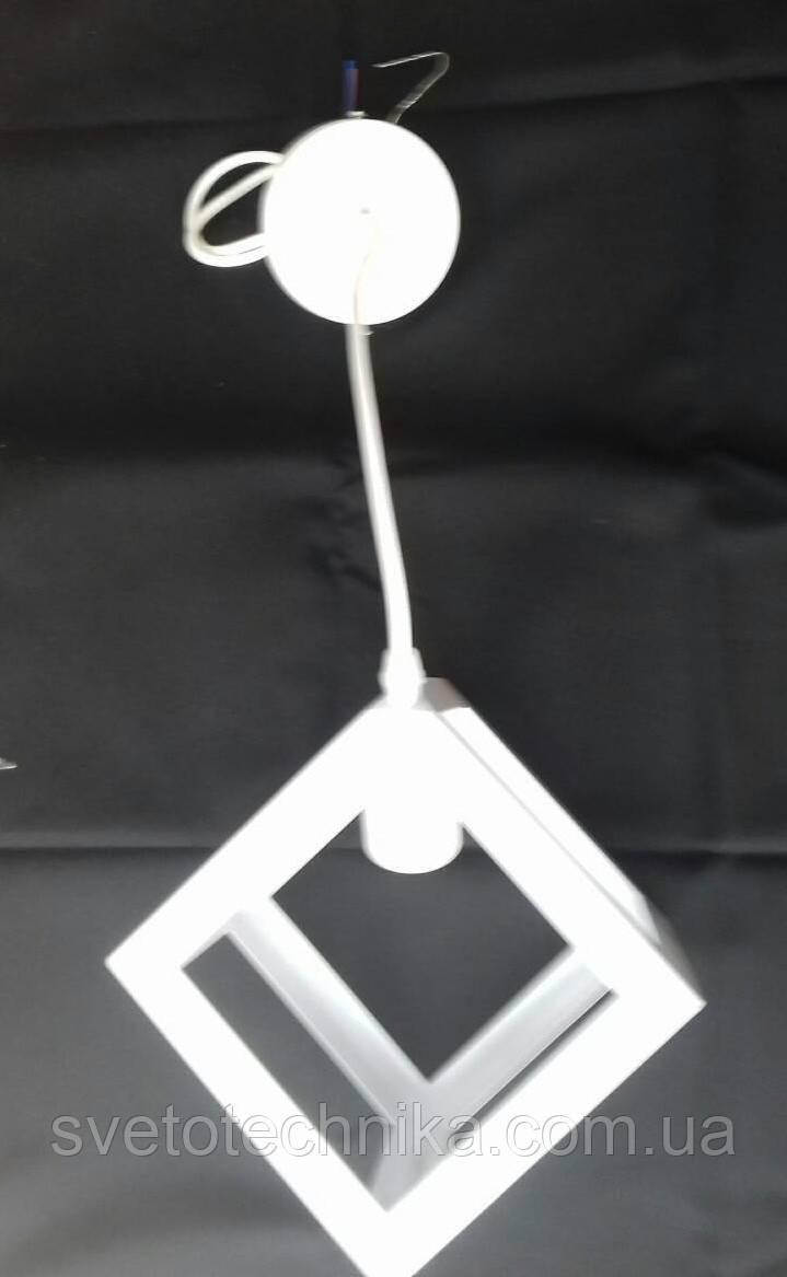 """Подвесной светильник в стиле LOFT """"Куб"""" (Коричневый, белый)"""