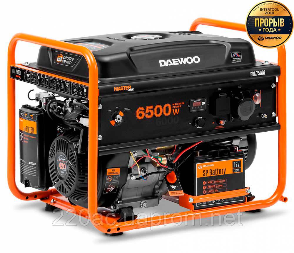 Бензиновый генератор DAEWOO GDA 7500E Master Line
