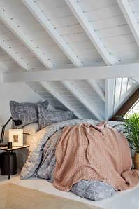 Набор постельного белья с покрывалом Karaca Home Alto gri серое