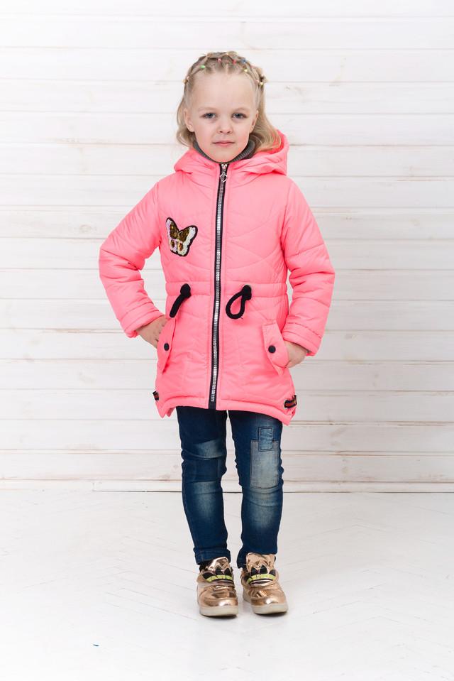 Демисезонная куртка парка для девочки на весну