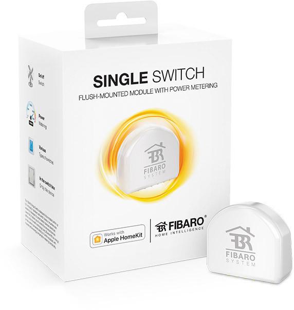 FGBHS-213 FIBARO Single Switch для Apple HomeKit, релейний вимикач з лічильником електроенергії