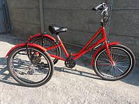 """Велосипед трехколесный для взрослых """"Городской с корзиной 24"""" RYMAR R-V-00112"""