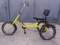 Велосипед трехколесный для людей с большим весом «Атлет с корзиной» RYMAR R-V-00115